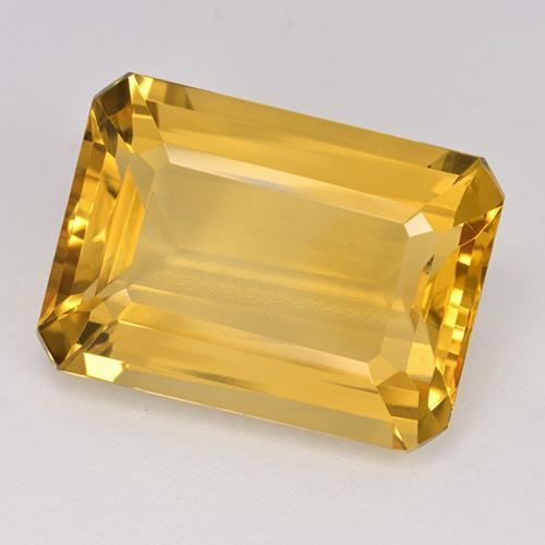 13.9ct Octogone taillé en degrés Deep Golden Orange Citrine gemme (ID: 514970)