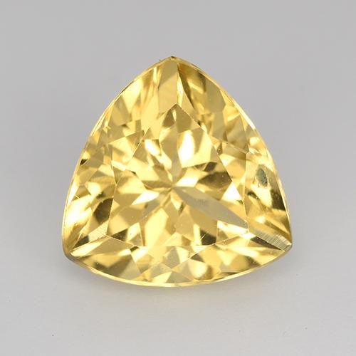 Medium-Light Golden Citrine Gem - 2.4ct Trillion Facet (ID: 515600)