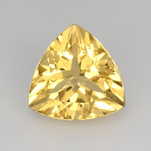 Yellow Golden Citrine Gem - 2.1ct Trillion Facet (ID: 515605)