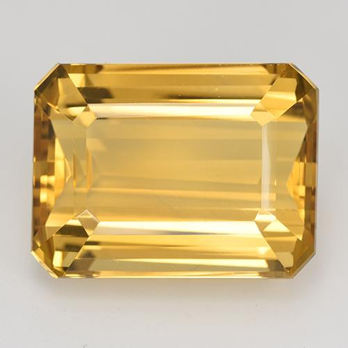 24.73 ct Octogone taillé en degrés Deep Golden Orange Citrine gemme 19.82 mm x 15 mm (Photo A)