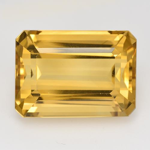 Dark Golden Citrina Gema - 17.1ct Corte octagonal (ID: 516629)