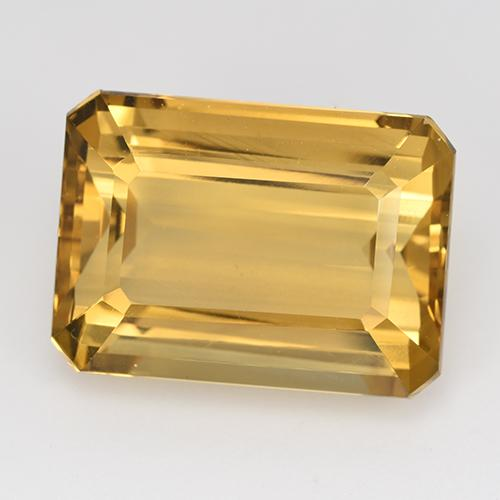 16.3ct Corte octagonal Medium-Light Golden Citrina Gema (ID: 516630)