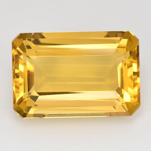 13.7ct Octagon Stufenschliff Medium Golden Citrin Edelstein (ID: 516631)