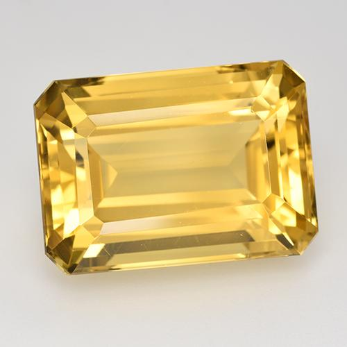 17.41 ct Corte octagonal Medium-Light Golden Citrina Piedra Preciosa 18.03 mm x 12.9 mm (ID del producto: 516633)