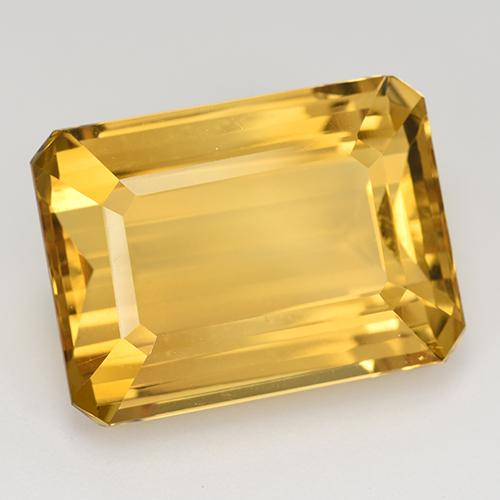 23.42 ct 八角阶梯切割 Bright Gold 黄水晶 宝石 20.26 mm x 15.1 mm (Product ID: 516634)