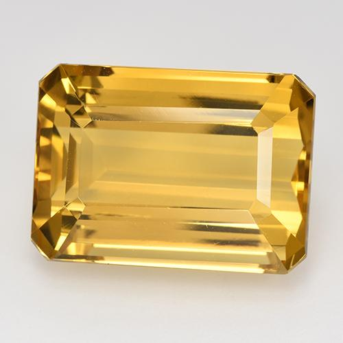 18.16 ct Octogone taillé en degrés Deep Gold Citrine gemme 18.13 mm x 13 mm (Photo A)
