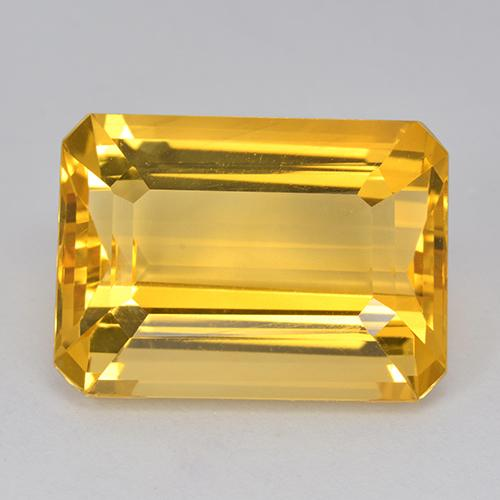 15.5ct Octagon Stufenschliff Medium Golden Citrin Edelstein (ID: 517207)