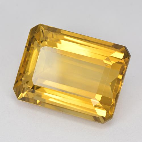 Dark Golden Citrine Gem - 12.9ct Octagon Step Cut (ID: 517208)