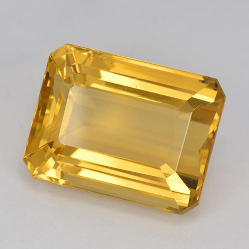 Deep Golden Orange Citrine Gem - 13.8ct Octagon Step Cut (ID: 517209)