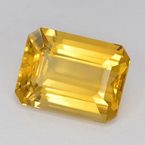 Dark Golden Citrine Gem - 11.3ct Octagon Step Cut (ID: 517210)
