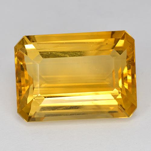 14.8ct Octogone taillé en degrés Deep Golden Orange Citrine gemme (ID: 517213)