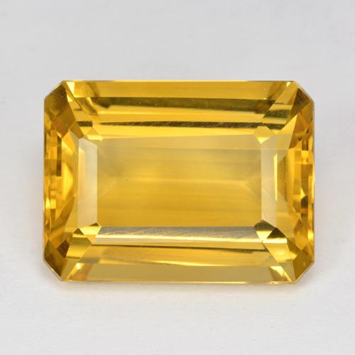 Deep Golden Orange Citrine Gem - 10.5ct Octagon Step Cut (ID: 517214)