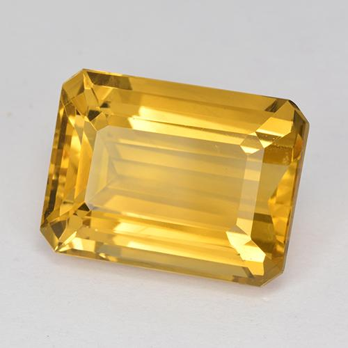 Deep Golden Orange Citrine Gem - 12.5ct Octagon Step Cut (ID: 517215)