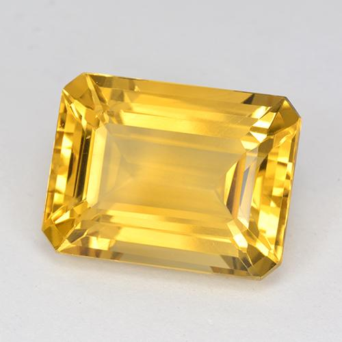 11.7ct Octagon Stufenschliff Medium Golden Citrin Edelstein (ID: 517218)