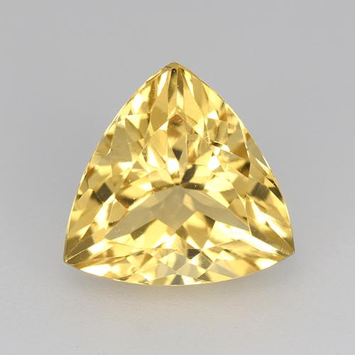 Medium Gold Citrine Gem - 2.3ct Trillion Facet (ID: 517538)