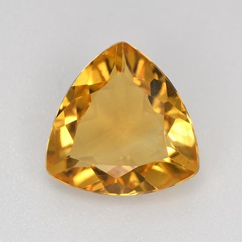 Orange-Gold Citrina Gema - 1.7ct Forma trillón (ID: 517976)