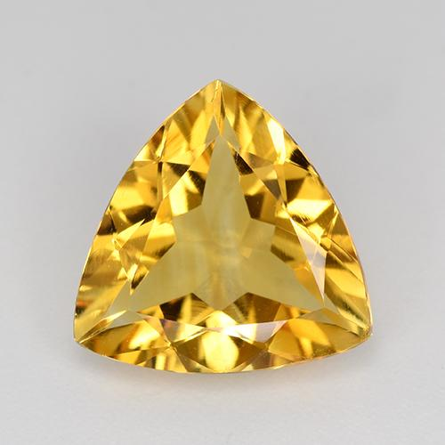 Golden Citrine Gem - 2.9ct Trillion Facet (ID: 518577)