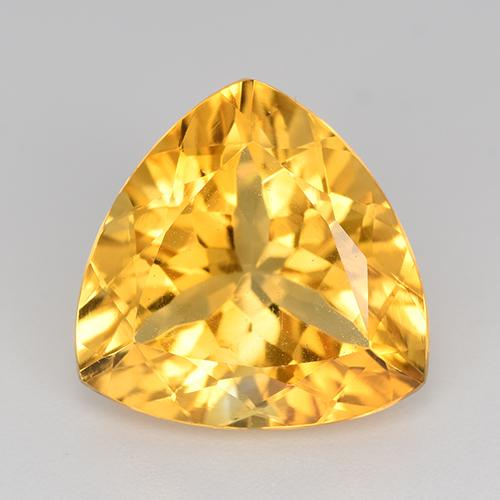 Medium Gold Citrina Gema - 6.5ct Forma trillón (ID: 518580)
