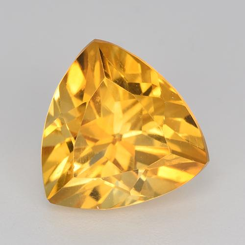 Deep Golden Orange Citrina Gema - 3.2ct Forma trillón (ID: 518582)