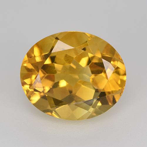 Medium-Dark Golden Citrina Gema - 5.1ct Forma ovalada (ID: 520281)