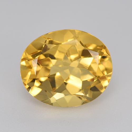 Medium Golden Citrina Gema - 5.1ct Forma ovalada (ID: 520550)