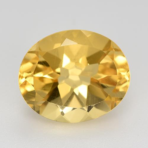 Bright Gold Citrine Gem - 4.7ct Oval Facet (ID: 520553)