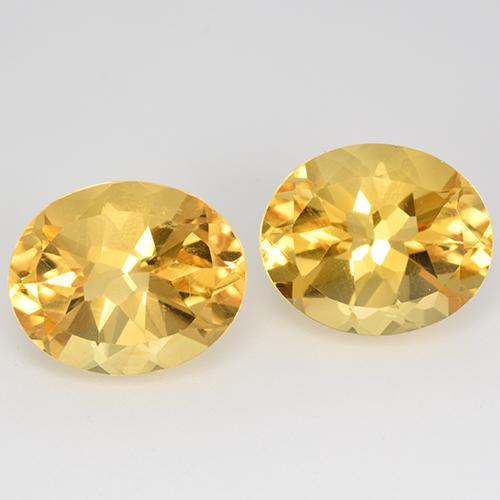Bright Gold Citrine Gem - 4.9ct Oval Facet (ID: 520560)