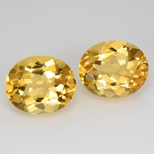 Yellow Golden Citrine Gem - 4.7ct Oval Facet (ID: 520563)