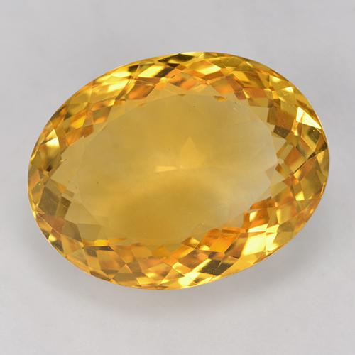 18.2ct Oval Facet Yellow Golden Citrine Gem (ID: 524210)