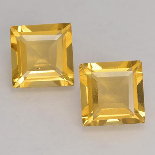 Bright Gold Citrina Gema - 1.5ct Forma cuadrada (ID: 529106)