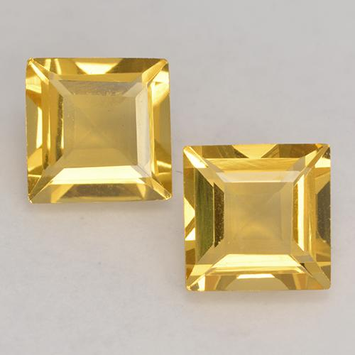 Medium Gold Citrine Gem - 1.5ct Square Facet (ID: 529109)