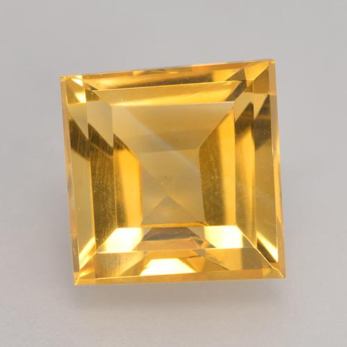 Medium Golden Citrina Gema - 3.8ct Forma cuadrada (ID: 530601)