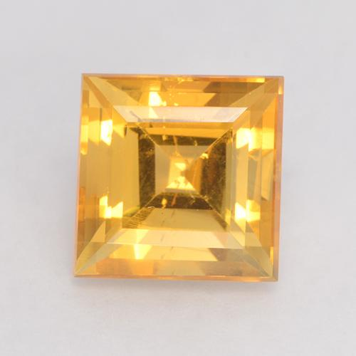 Bright Gold Citrine gemme - 3.7ct Facette Carrée (ID: 531001)