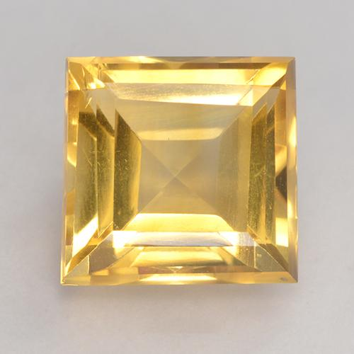 Medium Gold Citrino Gem - 3.6ct Taglio quadrato (ID: 531002)