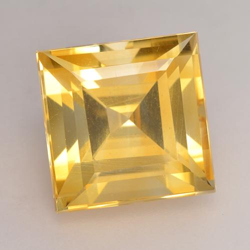 Medium Gold Citrina Gema - 3.5ct Forma cuadrada (ID: 531237)