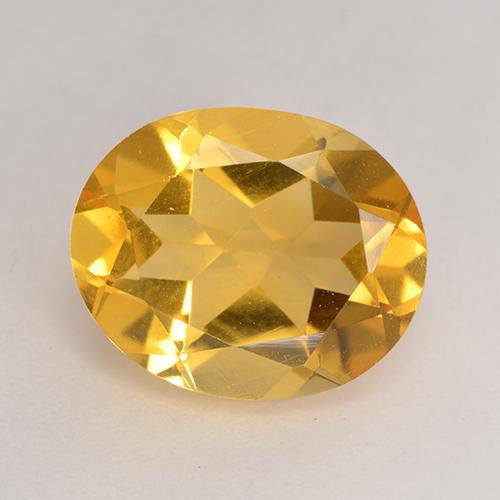Orange-Gold Citrine Gem - 3.1ct Oval Facet (ID: 532009)