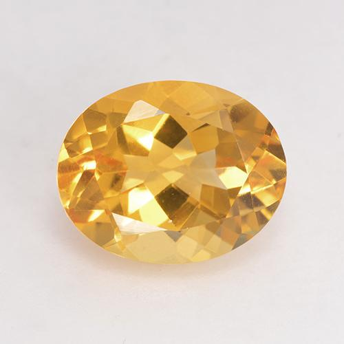 Bright Gold Citrine Gem - 3.4ct Oval Facet (ID: 532019)