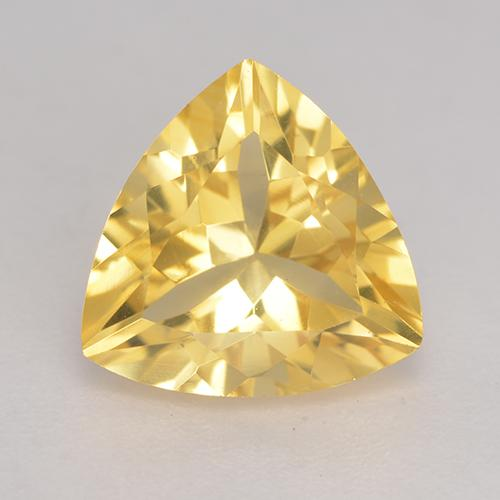 Medium Gold Citrine Gem - 2.1ct Trillion Facet (ID: 533507)