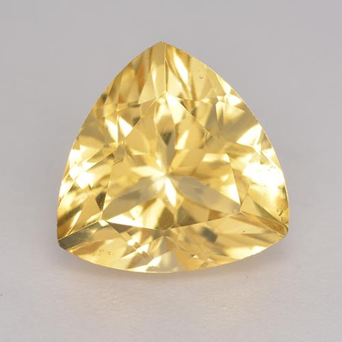Golden Citrine Gem - 2.4ct Trillion Facet (ID: 533508)