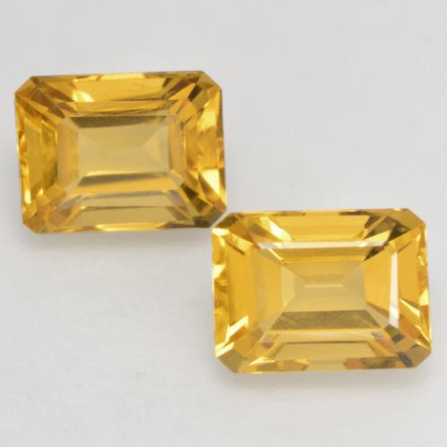 Bright Gold Citrine Gem - 1.7ct Octagon Facet (ID: 533709)