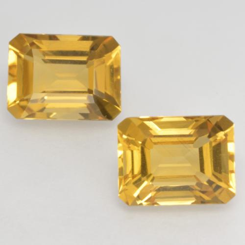 Golden Citrin Edelstein - 1.6ct Oktagon facettiert (ID: 533713)