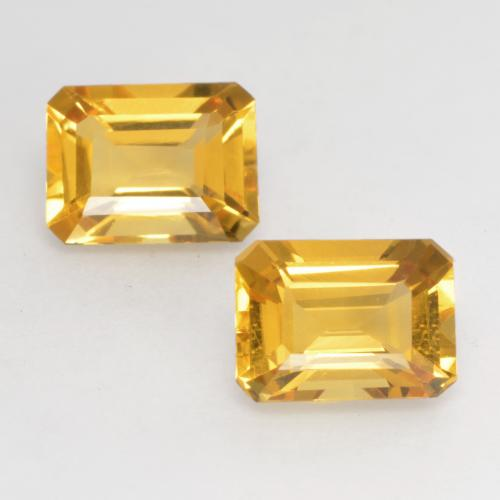 Golden Orange Citrine Gem - 1.5ct Octagon Facet (ID: 533719)