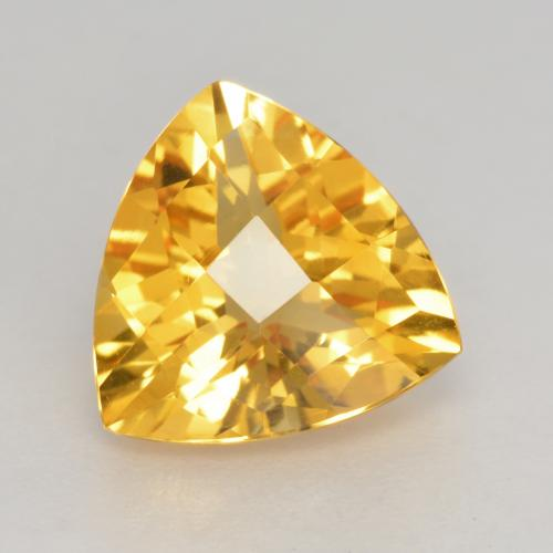 Medium Gold Citrina Gema - 2.2ct Trillón Tablero de Ajedrez (ID: 533731)