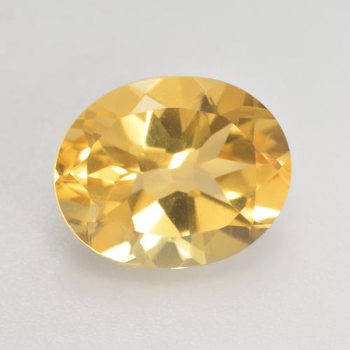 Medium Gold Citrina Gema - 3.6ct Forma ovalada (ID: 533782)