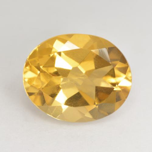 Bright Gold Citrina Gema - 3.2ct Forma ovalada (ID: 533787)