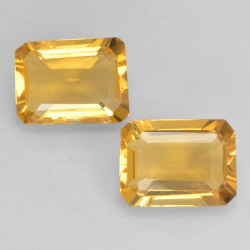 Bright Gold Citrine Gem - 1.3ct Octagon Facet (ID: 533868)