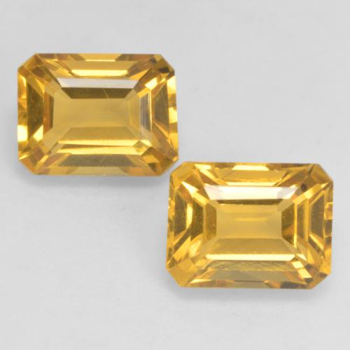 Golden Citrine Gem - 1.7ct Octagon Facet (ID: 533874)