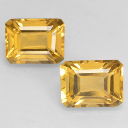 Golden Citrine Gem - 1.7ct Octagon Facet (ID: 533875)