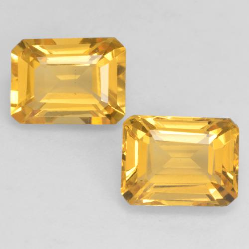 Bright Gold Citrine Gem - 1.6ct Octagon Facet (ID: 533878)