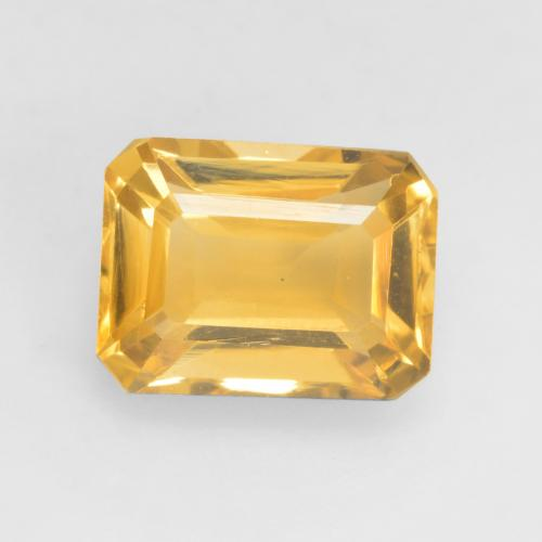 Medium Gold Citrine Gem - 1.7ct Octagon Facet (ID: 533953)